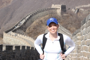 Melissa Yeager at Great Wall of China