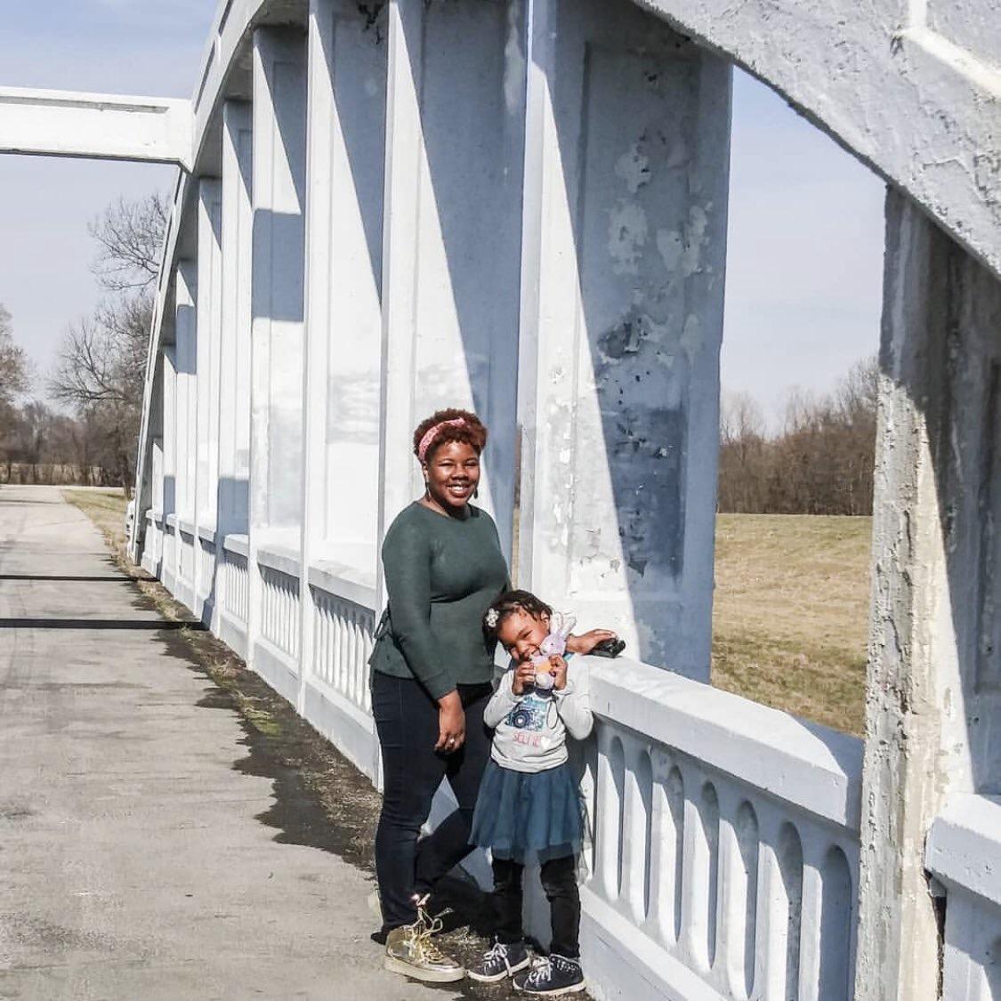 Kiara Watts and daughter Lily exploring KC